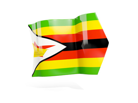 Arrow with flag of zimbabwe, isolated on white. 3D illustration Stock Photo