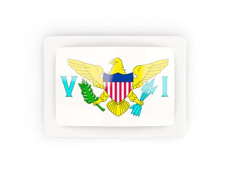 virgin islands: Rectangular flag of virgin islands us with carbon frame. 3D illustration