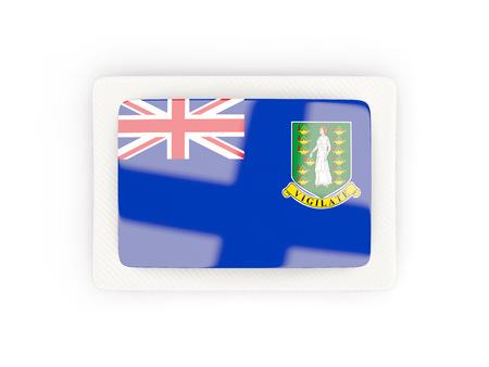 virgin islands: Rectangular flag of virgin islands british with carbon frame. 3D illustration