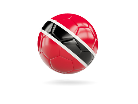 Football with flag of trinidad and tobago isolated on white. 3D illustration Stock Photo