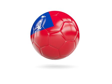 samoa: Football with flag of samoa isolated on white. 3D illustration