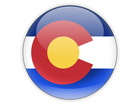 Flag of colorado, US state icon isolated on white. 3D illustration