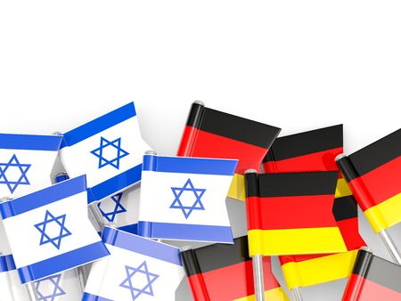 Flags of Israel and Germany isolated on white. 3D illustration