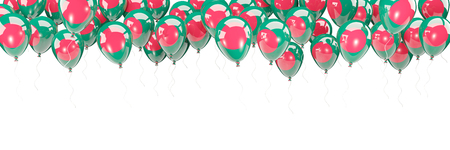 Balloons frame with flag of bangladesh isolated on white. 3D illustration