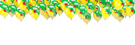 Balloons frame with flag of french guiana isolated on white. 3D illustration Stock Photo