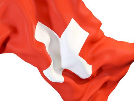 Gros plan de agitant le drapeau du karst 3d illustration Banque d'images - 90170534