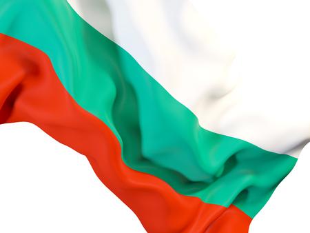 Closeup of waving flag of bulgaria. 3D illustration