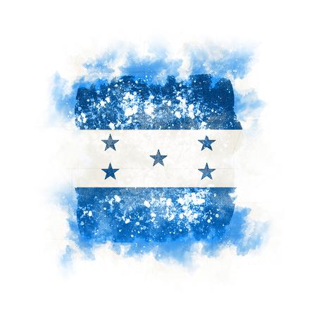 Square grunge flag of honduras. 3D illustration