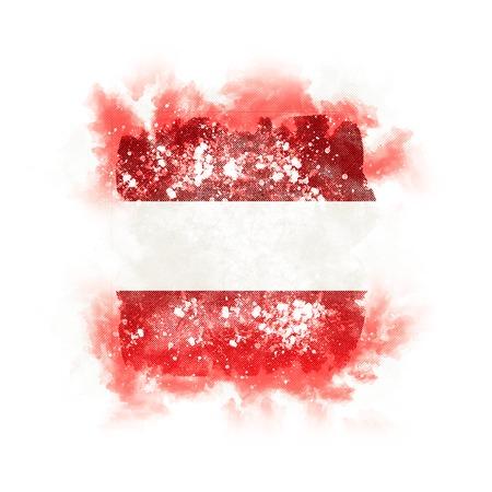 Quadratische Grunge Flagge von Österreich . 3D-Darstellung Standard-Bild - 95216203