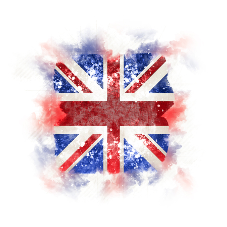 Square grunge flag of united kingdom. 3D illustration Stock Photo