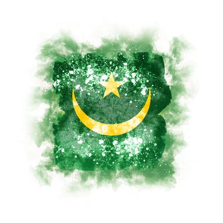 Square grunge flag of mauritania. 3D illustration