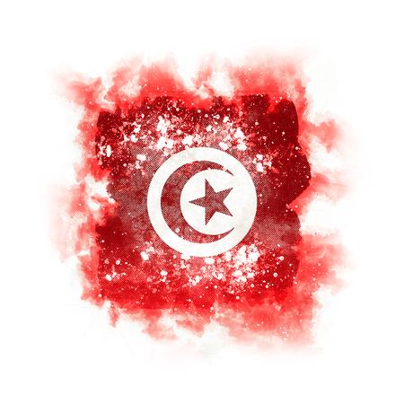 Square grunge flag of tunisia. 3D illustration Stock Photo