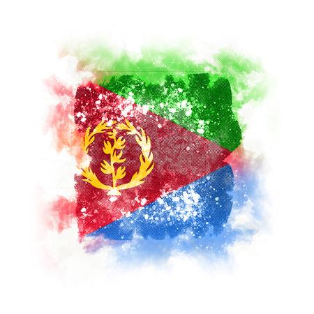 Square grunge flag of eritrea. 3D illustration Stock Photo