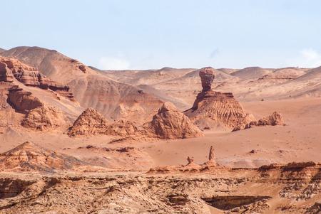 Khermen Tsav canyon in Gobi desert. South Mongolia