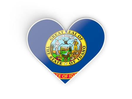 Heat with flag of idaho. United states local flags. 3D illustration 版權商用圖片