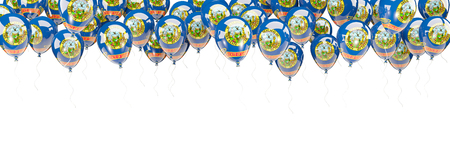 Balloons frame with flag of idaho. United states local flags. 3D illustration