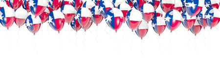 Balloons frame with flag of texas. United states local flags. 3D illustration Stock Photo