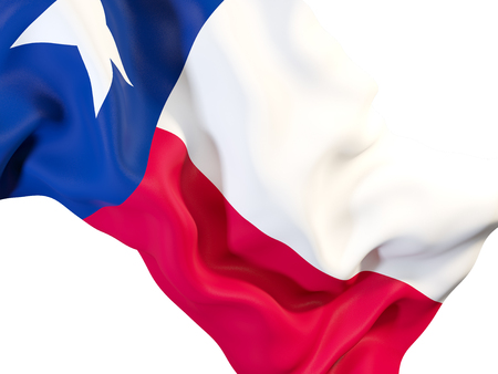 texas state flag close up. United states local flags. 3D illustration