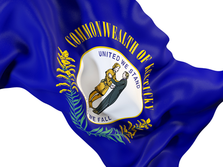 kentucky state flag close up. United states local flags. 3D illustration Stock Photo
