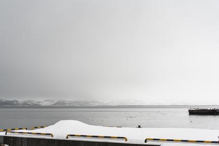 Urban winter landscape at Kamchatka peninsula, Russia