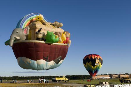 Noah's Ark - Hot air balloon in the blue sky. Stock Photo - 3525607