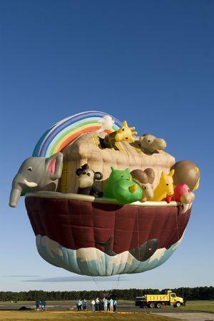 Noah's Ark - Hot air balloon in the blue sky. Stock Photo - 3525597