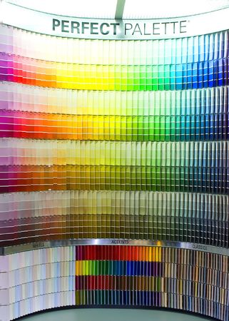Perfect palette- color paint samples