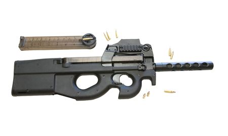 The FN P90 is a Belgian-designed personal defense weapon