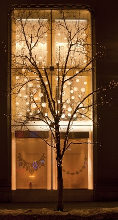 lighting background: Holiday Window Cases Stock Photo