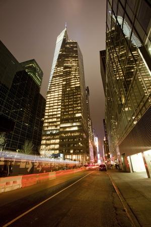 La ciudad de Nueva York en la noche.