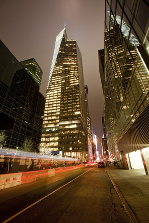 New York City at night. Stock Photo