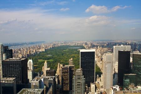 central: Vista de Ponaramic de Manhattan. Ciudad de Nueva York
