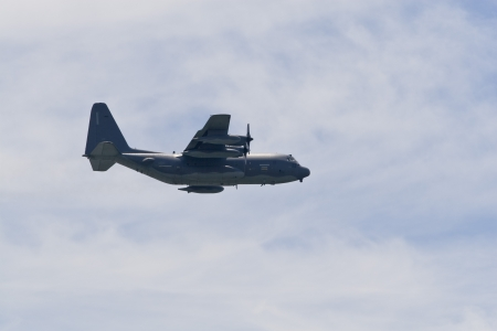 A plane performing in an air show at Jones Beach
