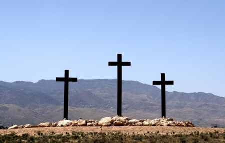 three crosses Stock Photo - 15558568