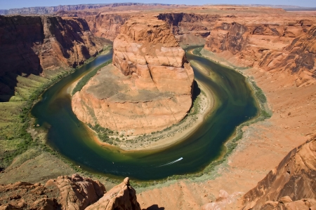 Colorado river. Horse shoe bend photo
