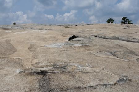 provincial tourist area: The surface of Stone-Mountain. Atlanta, Georgia