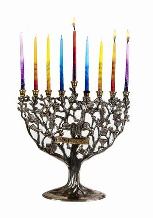 Chanukah Menorah. Second day of Chanukah. XXL Stock Photo - 15577434