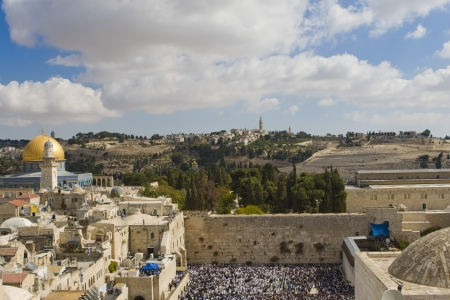 siddur: Prayer of Jews at Western Wall. Jerusalem Israel