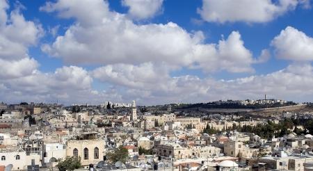 kippah: Ciudad vieja de Jerusal�n