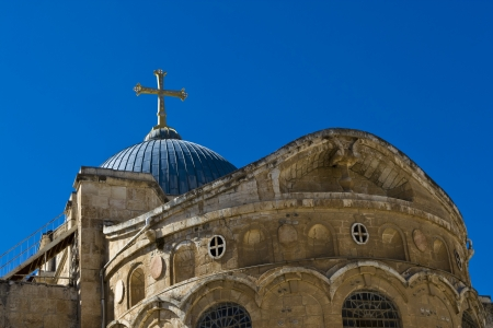 church of the holy sepulchre: Holy Sepulchre, Jerusalem Stock Photo