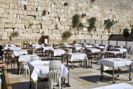 messiah: Prayer of Jews at Western Wall  Jerusalem Israel