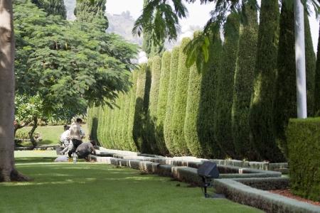 bahai: Magnificent park near to center Bahai of religion