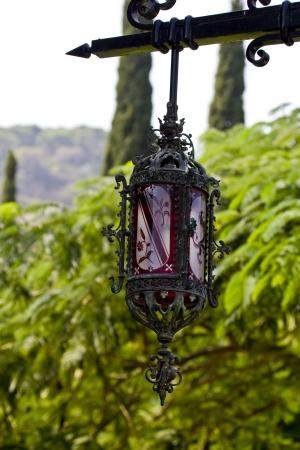 Ornate lantern in Bahai garden Haifa  Israel Stock Photo - 15606996