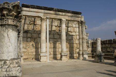 synagoge: Ruins of the synagoge in Capernaum