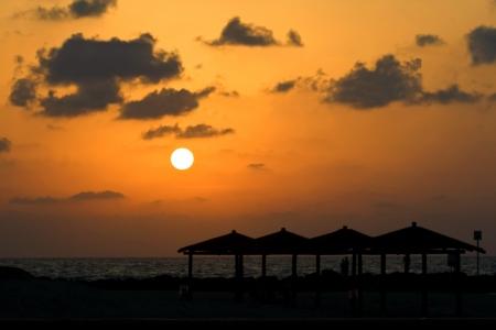 Sunset on a sea.