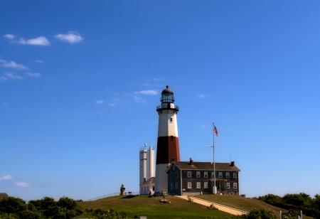 montauk: Lighthouse at Montauk Point. Long Island. NewYork Stock Photo