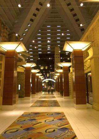 Lobby in luxury hotel