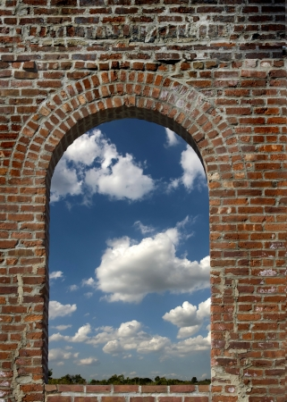 castel: Castel window with blue sky