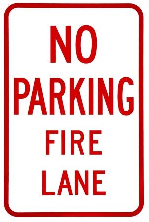 obedecer: Sign-No hay aparcamiento línea de fuego