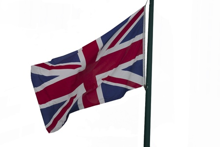United Kingdom flag waving in the air photo